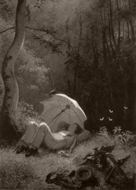 Spitzweg_Der_Maler_in_einer_Waldlichtung